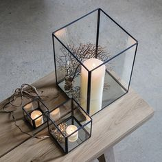Love these candle holders, perfect display boxes also.