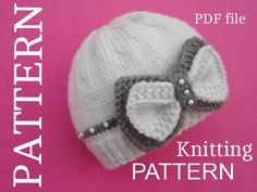 Baby Hat P A T T E R N  Knitting Baby Hat Baby Patterns Knitted Baby Hat Knitting Pattern Baby Hats Knitting Hat  Newborn Hat  ( PDF file )