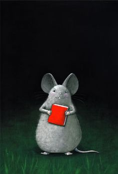 .mouse with book