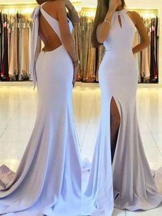 Mermaid prom dresses with side slits for dressydances – Wanderlust Mermaid Bridesmaid Dresses, Prom Dresses Two Piece, Cute Prom Dresses, Prom Outfits, Mermaid Dresses, Simple Dresses, Pretty Dresses, Homecoming Dresses, Formal Dresses