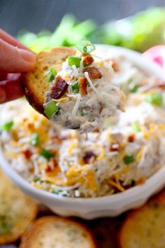 Skinny Million Dollar Dip Dashing Dish - This Skinny Million Dollar Dip Is A Lighter Spin On The Famous Million Dollar Dip This Almond Bacon And Cheese Dip Recipe Started Out As A Cheese Spread And Quickly Become A Crowd Pleasing Million Healthy Superbowl Snacks, Healthy Dips, Healthy Appetizers, Appetizer Recipes, Healthy Recipes, Beach Appetizers, Low Fat Snacks, Quick Snacks, Healthy Choices