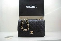 2011 New Styler Chanel Bag Black Gold 36076...yes please