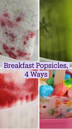 Fun Baking Recipes, Sweets Recipes, Baby Food Recipes, Cooking Recipes, Glace Diy, Breakfast Popsicles, Popsicle Recipes, Creative Food, Diy Food