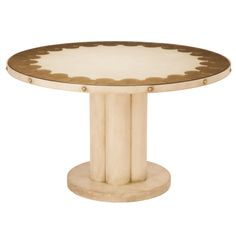 Strato Dining Table - like the shape and fluted pedestal