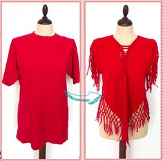 UNsexy red T-shirt transformed into a beach cover up