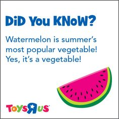 WATERMELON IS A VEGETABLE!!!!! my whole childhood was a lie......