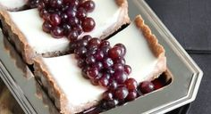 Panna Cotta Tart with Marinated Table Grapes