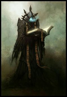 "Chaos Librarian from ""Warhammer Online: Age of Reckoning"" by daarken Dark Fantasy Art, Fantasy Artwork, Fantasy Rpg, Medieval Fantasy, Fantasy World, High Fantasy, Warhammer Fantasy, Warhammer Art, Illustration Fantasy"