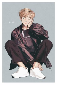Bangtan V taehyung bts Fanart Bts, Taehyung Fanart, Bts Taehyung, Bts Bangtan Boy, Bts Chibi, Bild Girls, Bts E Got7, Kpop Anime, K Wallpaper
