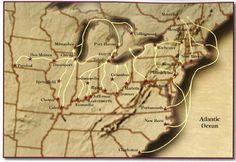 Underground Railroad routes through Illinois