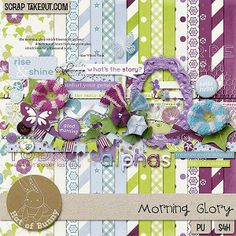Morning Glory portrays love and affection. It reminds us to treasure every moment. It is versatile for scrapping many photo themes! Find it here: http://scraptakeout.com/shoppe/Morning-Glory.html