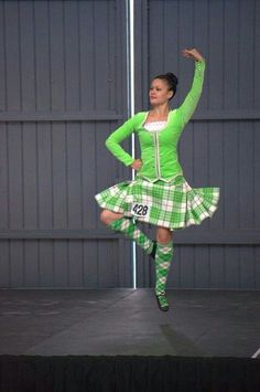 Not sure I'd ever pick a lime jacket over a black one, but man is that eye catching! #highlanddance