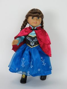 Princess Anna American Girl Doll Costume by TooCuteCreations2007