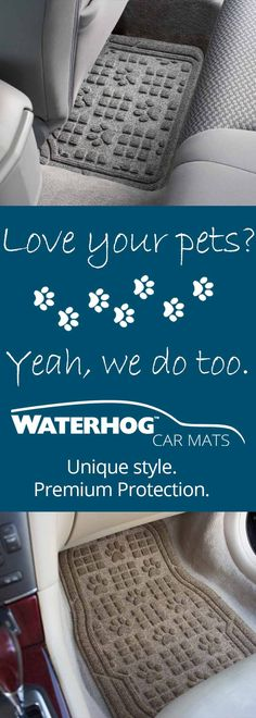 Unique Paw Print tread pattern combines style and protection! Shop now at www.waterhogcarmats.com