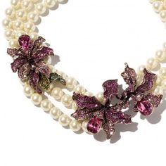 """""""Wild Orchid"""" Crystal Drop Necklace - Necklaces – Shop Jewelry 