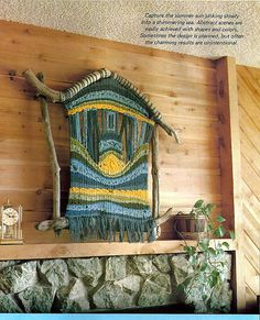 Weaving on Driftwood Looms Weaving Pattern by grammysyarngarden