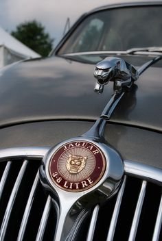 A early Jaguar Mark II produced sometime between 1959 and 1967.