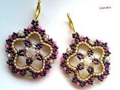 ▶ Tutorial: orecchini Lotus P 1 / Lotus earrings P 1 - YouTube