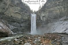 Commonly called Taughannock Falls, this is technically the middle falls in Taughannock Falls State Park. It is the longest falls east of the Mississippi River and longer than Niagara Falls. Taughannock Creek is a tributary to Cayuga Lake, the largest lake in the Finger Lakes. For more information about Taughannock Falls, visit http://www.ilovethefingerlakes.com/recreation/stateparks-taughannockfalls.htm