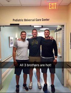 HI Watt and his brothers all hit the gene pool jackpot!!