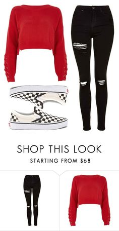 """""""Untitled #96"""" by ejeffrey3 on Polyvore featuring Topshop, River Island and Vans"""