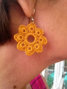 THIS IS A DIGITAL DOWNLOADABLE FILE (PDF PATTERN TUTORIAL) - NOT A PRODUCT. -------------------------------------------------------------------------------------------------------------------------  This listing is for one of the crochet earrings patterns designed by me. A great