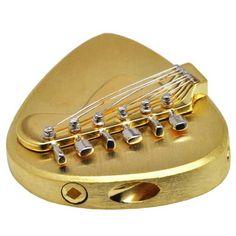 KANGAROO  CROSSING Solid Brass Guitar Pick,Acoustic,Electric,Mandolin,Bass