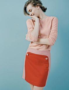 Vintage Button Skirt WG618 Mini at Boden