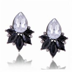 High Quality Crystal Stud Earrings For Women Round Rhinestone Drop Style e0223