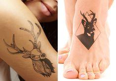 Deer head tattoo designs