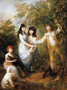 Thomas Gainsborough (1727-1788) The Marsham Children 1787. Oil on canvas. 242,9 x 181,9 cm. Staatliche Museen zu Berlin, Gemäldegalerie, Berlin. 82.4.