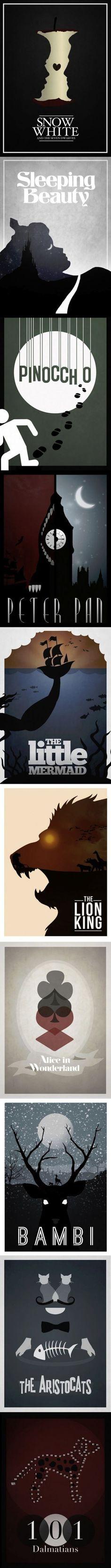 Simplistic Disney film posters.