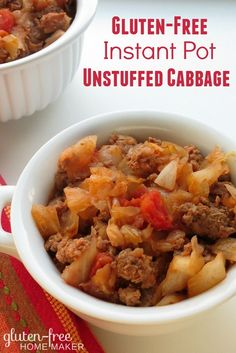 This Instant Pot Unstuffed Cabbage is easy to make and has all the flavors of stuffed cabbage rolls. This can also be made on the stove top.