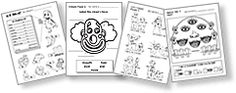 free printable craft sheets, flash cards and worksheets for teaching Spanish to kids