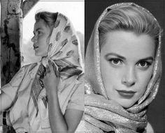 Beautiful Grace Kelly, scarf-grace-head-horz by jonnessa, via Flickr
