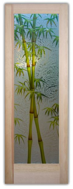 This Glass Door Is Hand Crafted Sandblast Frosted And 3d Carved