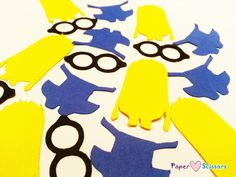 Despicable Me Minion table confetti perfect for a minion birthday party or minion baby shower!
