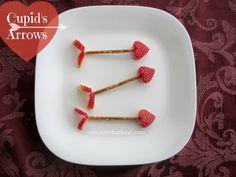 holiday, healthi valentin, valentin snack, arrows, cupid arrow, valentine day, food, snacks, candy desserts