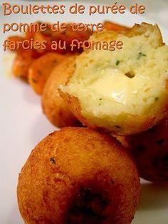 Boulettes de purée de pomme de terre farcies au fromage