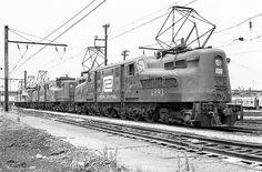 Penn Central GG1 Electric Locomotives, Washington, D.C.., June 1976