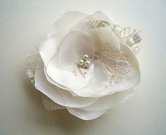 Ivory Wedding Hair Accessory Light Champagne Hair by coloureen, $22.00
