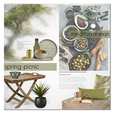 """Mediterranean Spring Picnic"" by anna-anica ❤ liked on Polyvore featuring interior, interiors, interior design, home, home decor, interior decorating, BoConcept, DAY Birger et Mikkelsen, Nordal and iittala"