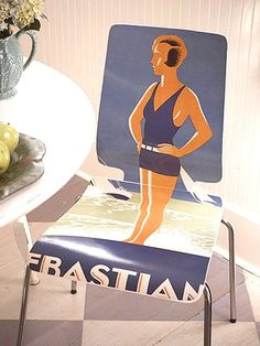 Inspiration to Decoupage Furniture -- large copy of a favorite photograph; vintage poster; etc.