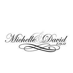 Wedding Monogram, Logo, Custom, Digital Wedding Monogram File