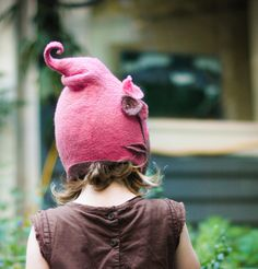 child's felt hat  get your own custom child's by lalabugdesigns, $75.00