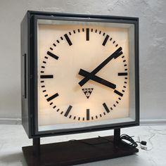 7e4c3f1608d8 1960s 70s huge Czech Station Clock by Pragotron Industrial Clocks
