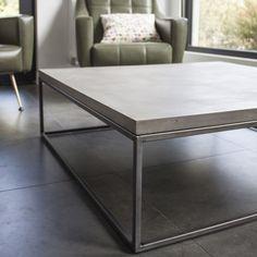 Table basse béton et métal Perspective 100x100x27
