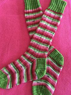 Ravelry: rockymtnknitter's Watermelon Socks
