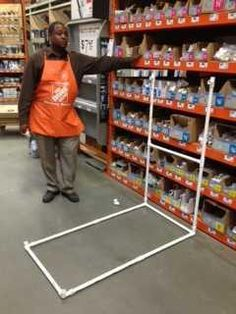 How to layout pallet racks below you can see profile views for Pvc pipe dressing room