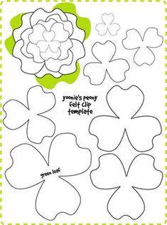 Template felt flowers                                                                                                                                                                                 Mais
